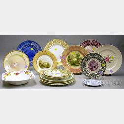 Fifteen Assorted Mostly English Decorated Ceramic Plates