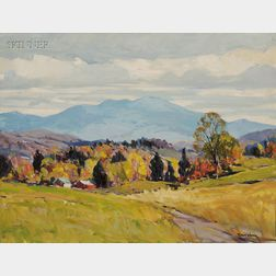 Robert Shaw Wesson (American, 1902-1967)      Autumn View, Possibly a Vermont View