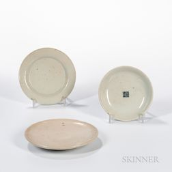 Three Small White Porcelain Dishes