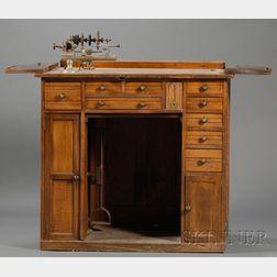 Oak Roll-top Watchmaker's Bench