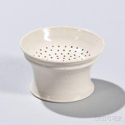 White Salt-glazed Stoneware Pounce Pot
