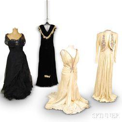 Four Vintage Lady's Evening Dresses