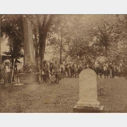 Cody, Buffalo Bill (1846-1917) Photograph Taken at Uncas's Grave, 1907.