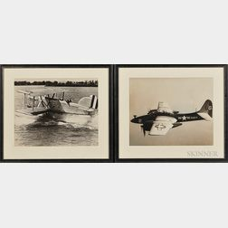 Six Large-format Photographs of U.S. Navy Aircraft