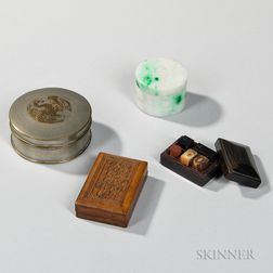 Four Small Covered Boxes