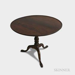 Queen Anne Walnut Birdcage Tilt-top Tea Table