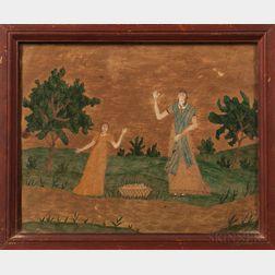 Hannah Badger, Early 19th Century      Two Waving Women