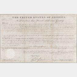 Adams, John Quincy (1767-1848) Document Signed, 15 December 1826.