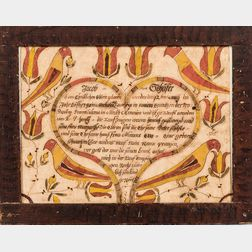 Birth and Baptismal Fraktur for Jacob Schafer