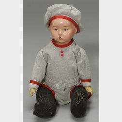 Composition Whistling Jim Character Doll