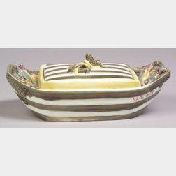 Wedgwood Argenta Majolica Sardine Boat