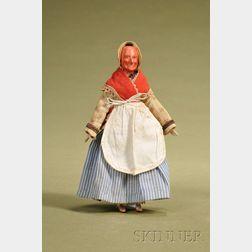 Papier-mache Old Woman
