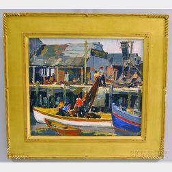 James Jeffrey Grant (American, 1883-1960)      Coming In, Gloucester, Massachusetts