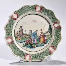 White Salt-glazed Stoneware Fortune Teller   Plate