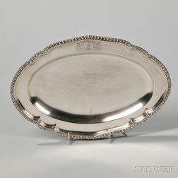 George III Irish Sterling Silver Tray