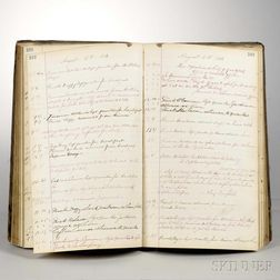 Firefighters' Log Book, Engine 23, Fire Department of New York City, July through October 1883.