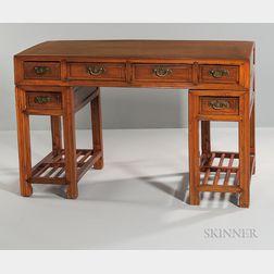 Hardwood Double-pedestal Desk