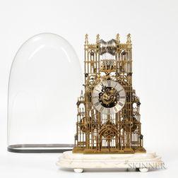 John McConnell Quarter-chiming Fusee Skeleton Clock