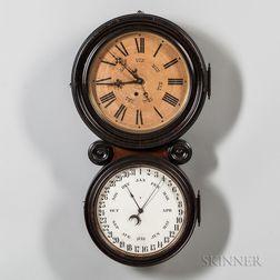 Ingraham Double-dial Calendar Clock