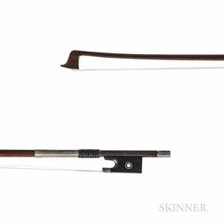 French Silver-mounted Viola Bow, Morizot Frères