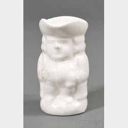 Small White Porcelain Toby Jug