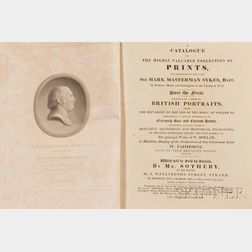 Book Auction Catalogs, Mark Masterman Sykes (1771-1823):