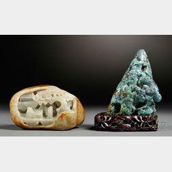 Scholar Rock and Jade Mountain
