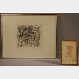 Four Works on Paper:      Aristide Maillol, (French, 1861-1944), Daphnis and Chloe