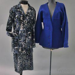 Missoni Black, Blue, and Purple Wool Blend Lady's Suit