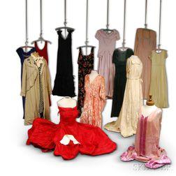 Thirteen Vintage Lady's Dresses