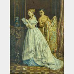 Adrien Joseph Verhoeven-Ball (Belgian, 1824-1882)      The Love Letter