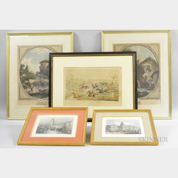 Eleven Framed Engravings