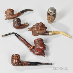 Five World War I-era and One World War II Carved Pipes