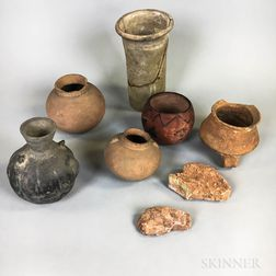 Six Mexican Pottery Vessels
