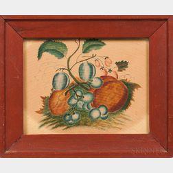 American School, Mid-19th Century      Still Life with Fruit