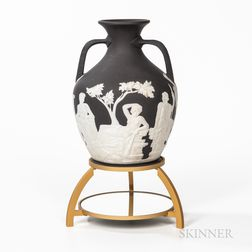Wedgwood Solid Black Jasper Portland Vase