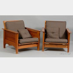 Pair of Arts & Crafts Style Armchairs