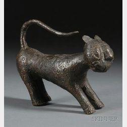 African Cast Bronze Leopard