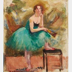 Attributed to Louis Kronberg (American, 1872-1965)      Sketch of a Ballerina