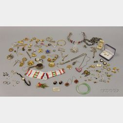 Group of Assorted Mostly Costume Jewelry and Accessories
