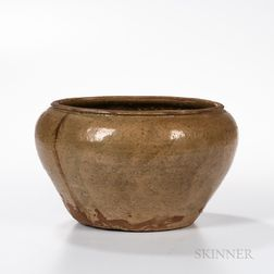 Celadon-glazed Stoneware Wide-mouthed Alms Bowl