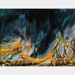 Leonardo M. Nierman  (American, b. 1932)      Untitled [Caverns]