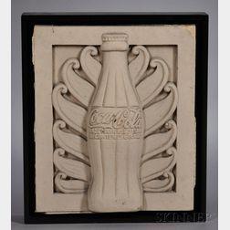 Cast Concrete Coca-Cola Bottle Architectural Fragment