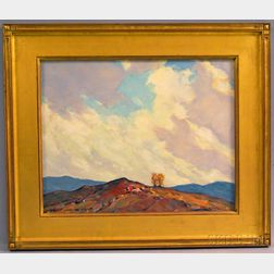John F. Enser (American, 1898-1968)      The Windy Sky