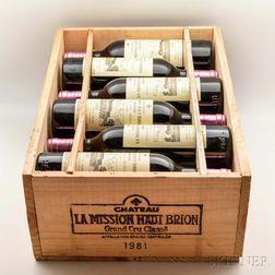 Chateau La Mission Haut Brion 1981, 12 bottles (owc)