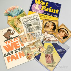 Group of Trade Cards, Advertisements, Labels, and Other Ephemera