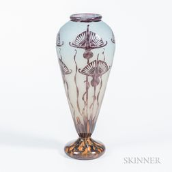 Le Verre Francais Cameo Glass Vase