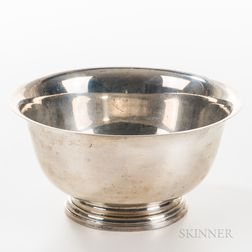 Sterling Silver Paul Revere Reproduction Footed Bowl
