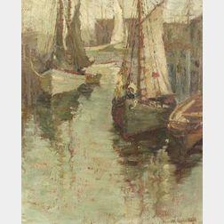 Jeanette Agnew Lyon (American, b. 1862)  Docked Boats