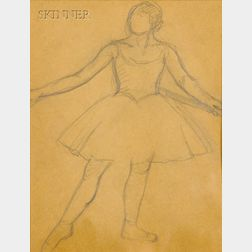 Attributed to Louis Kronberg (American, 1872-1965)      Ballerinas/A Double-sided Sketch